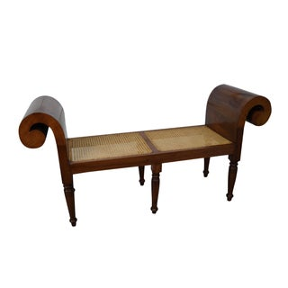 Anglo-Indian Rolled Arm Window Bench