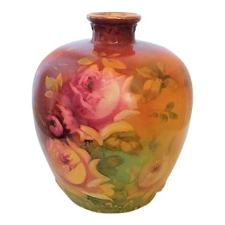Antique Royal Bonn Floral Vase