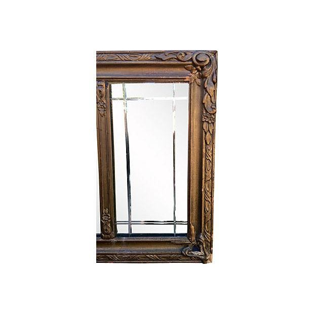 Image of Antique Carved Wood Mantel Mirror
