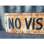 Image of Vintage Office Sign - No Visitors Employees Only!