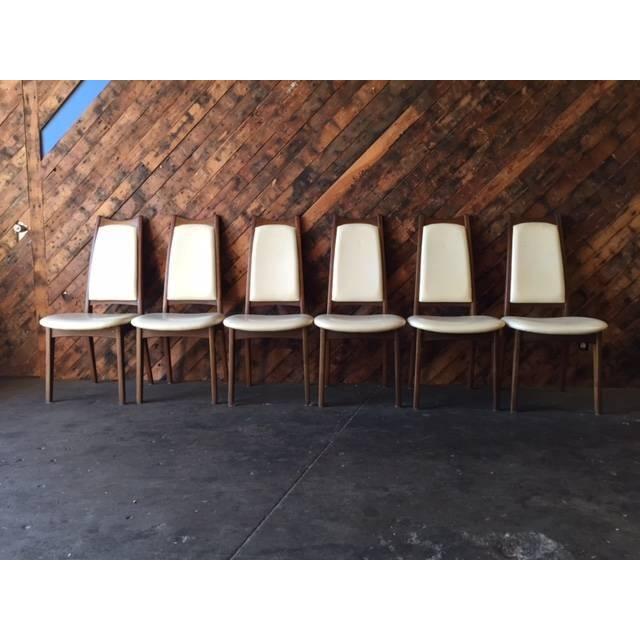 Image of Danish Walnut Dining Chairs - Set of 6