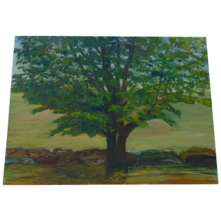 MCM Painting of Large Tree by H.L. Musgrave
