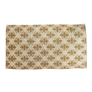 "Vintage 1960's Oushak Carpet - 4'9"" X 8'7"""