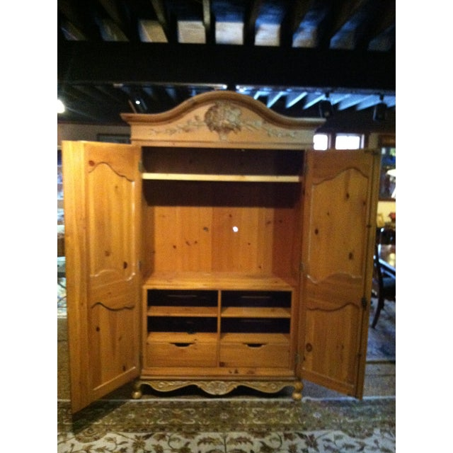 Image of Ethan Allen Carved Armoire