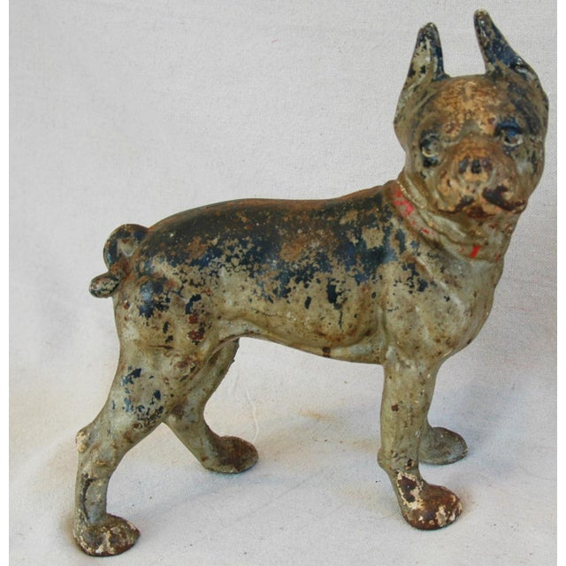1940s Cast Iron Boston Terrier Dog Doorstop - Image 2 of 9