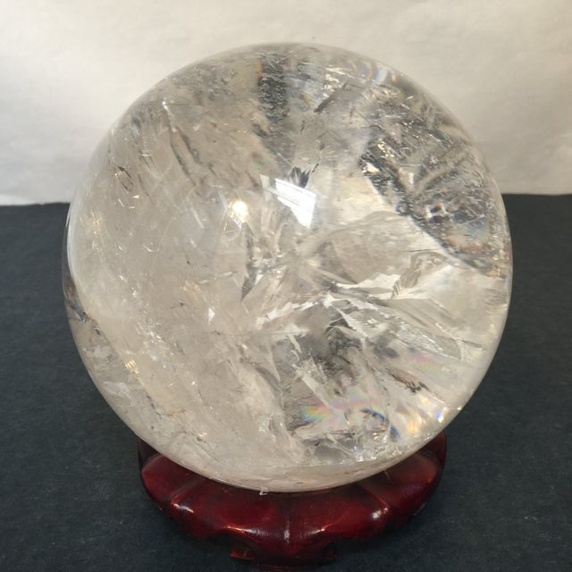 Extra Large Quartz Crystal Ball - Image 8 of 8