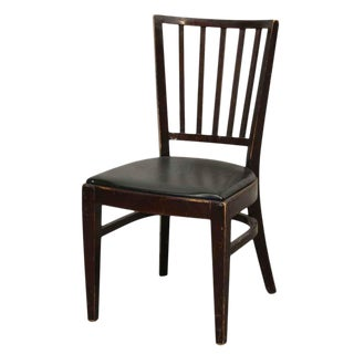 Thonet Black Vinyl Seat Chair