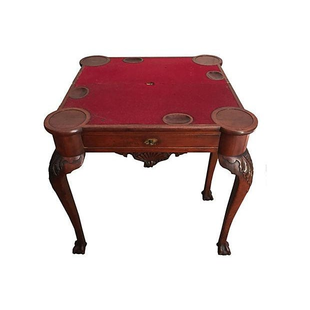 Image of American Walnut Game Table, New York C.1860