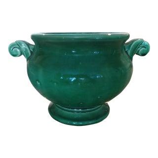 McCoy Mid-Century Green Urn Planter