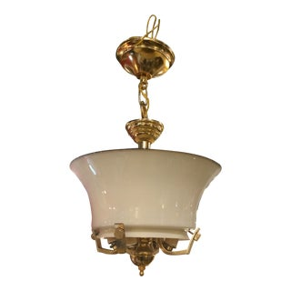 Vintage Brass Italian Hall Light