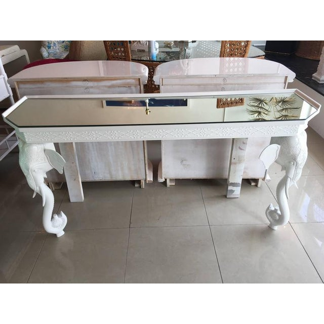 Gampel-Stoll White Elephant Console Table - Image 8 of 11