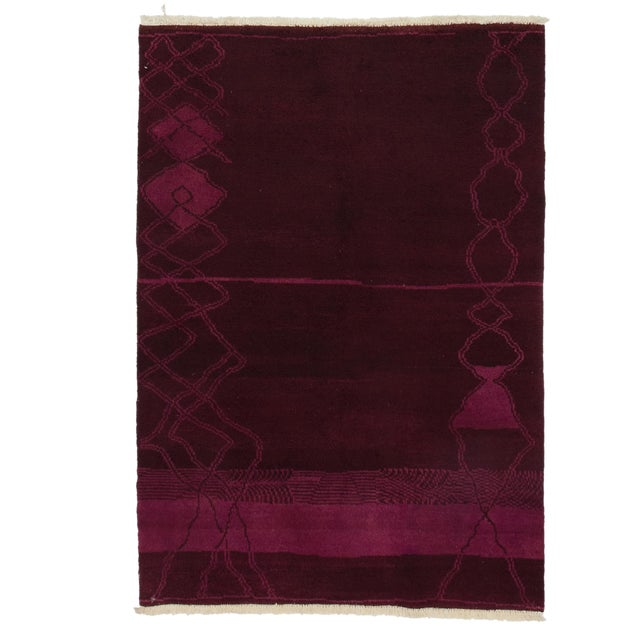 """Image of Moroccan Hand Knotted Area Rug - 4' X 5'8"""""""