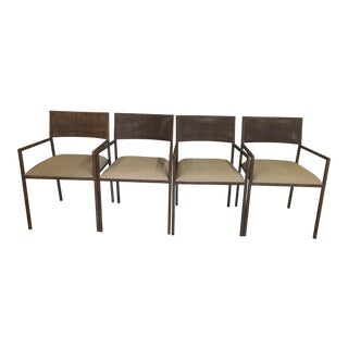Indonesian Wicker Dining Chairs - Set of 4
