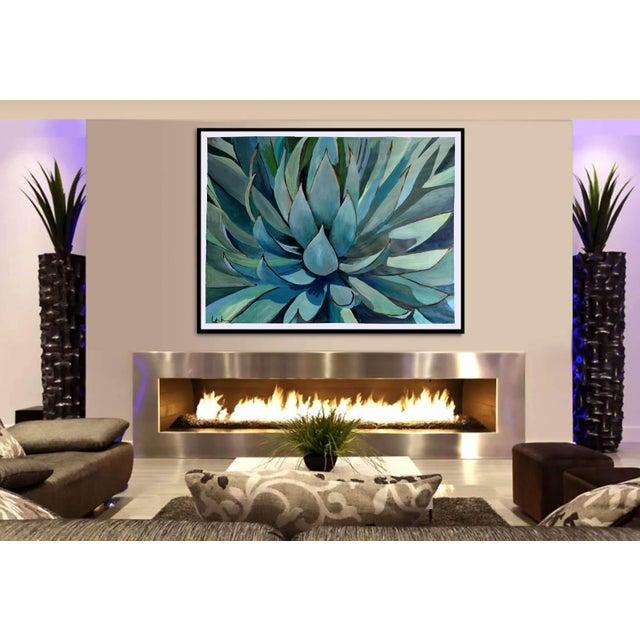 Agave Americana Acrylic Painting - Image 3 of 10