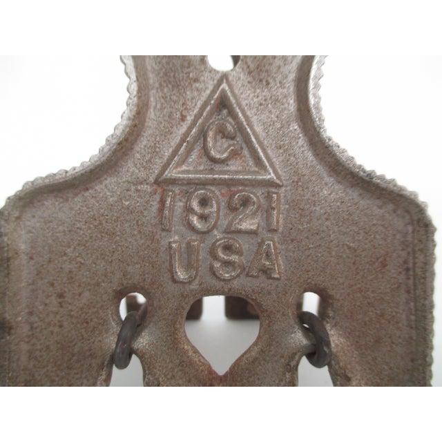Image of Antique Brass Metal Letter Holder
