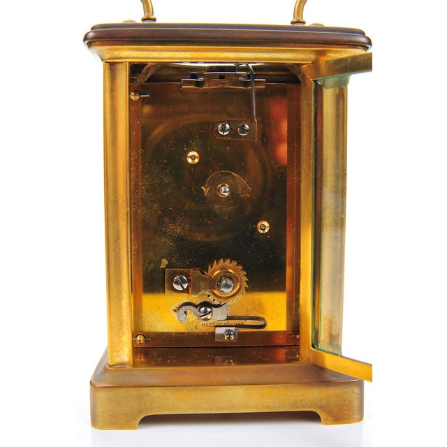 Image of Stowell & Co. Antique Brass Carriage Clock