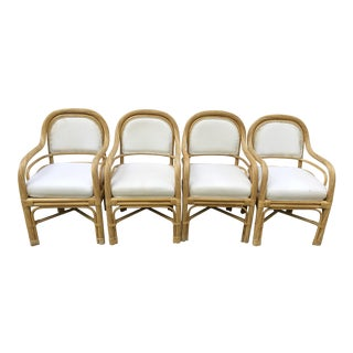Twisted Rattan Dining Chairs - Set of 4