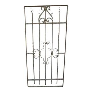 Antique Victorian Iron Gate or Garden Fence