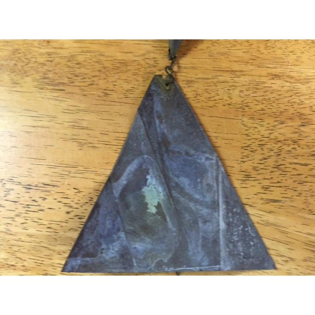 Paolo Soleri Bronze & Copper Fin Wind Bell - Image 9 of 11