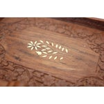 Image of Hand-Carved Tray With Inlaid Shell
