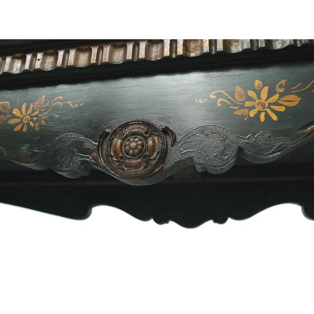 Chinoiserie Decorated Wooden Console Table - Image 9 of 10