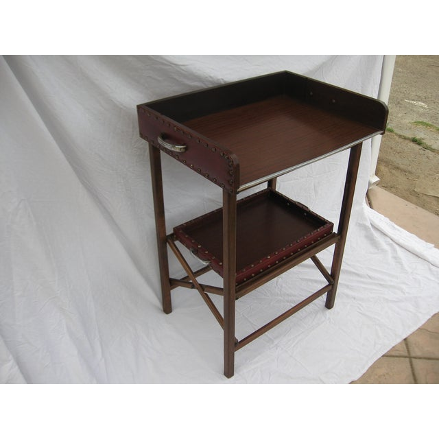 Mid-Century Collapsable Bar Cart - Image 6 of 9