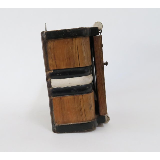 Vintage Wood Wall Mount Hanging Display Case - Image 6 of 7