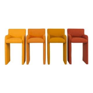 Milo Baughman Gradient Stool Chairs - Set of 4