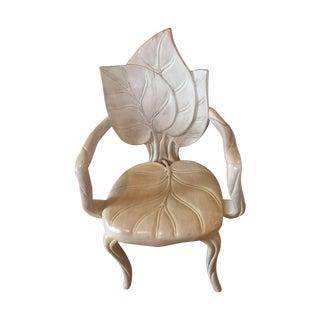 Art Nouveau Leaf Sculpture Chair