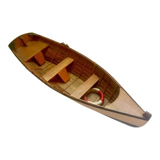Vintage Model Wooden Skiff Boat