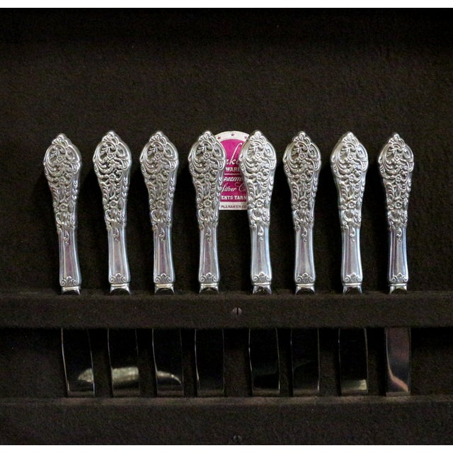 Image of 1950s Sterling Silver Flatware & Serving Pieces
