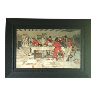 Cecil Aldin Hunt Print in Wood Frame