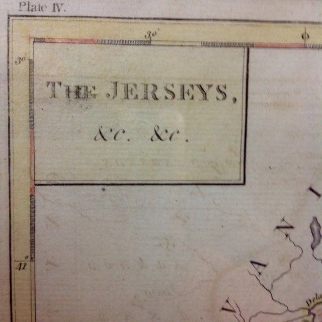 """1788 """"The Jerseys"""" Hand Colored Engraved Map - Image 4 of 10"""