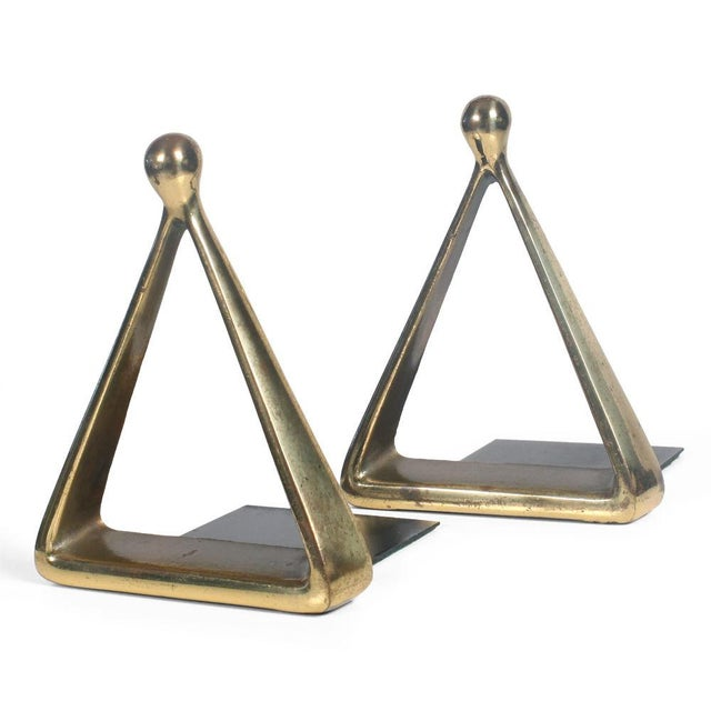 Bronze Triangle Bookends by Ben Seibel - Image 3 of 7