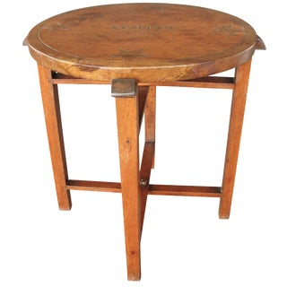 1950s Hand-Carved Haitian Folding Table