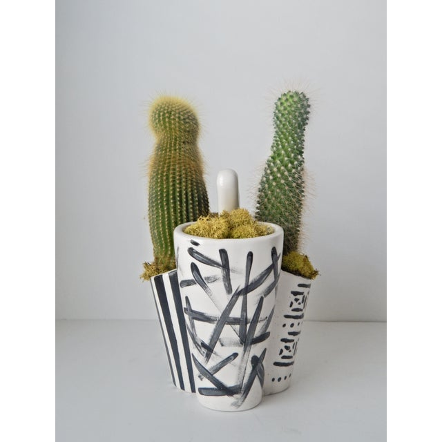 Hand Painted Cactus Planter - Image 3 of 6