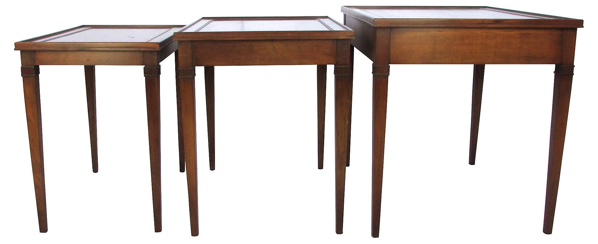 Image Of Regency Style Mahogany Nesting Tables   Set Of 3