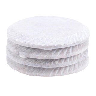 Round Marble Coasters - Set of 4