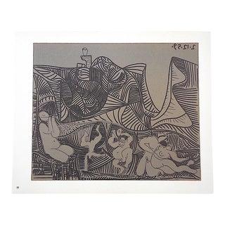 """Vintage Picasso Lithograph-""""Bacchanale Au Hibou"""""""