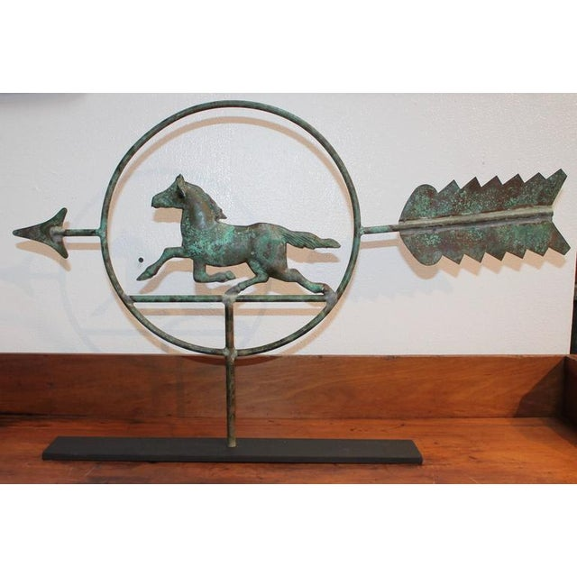 19th Century Running Horse within a Circle Weathervane on Stand - Image 7 of 7