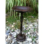Image of Ornate Art Nouveau Iron Pedestal Stand