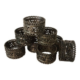 Vintage Silver Plated Napkin Rings - Set of 8