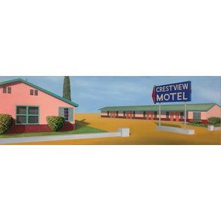 "Modern Realist California Oil Painting ""Crestview"""