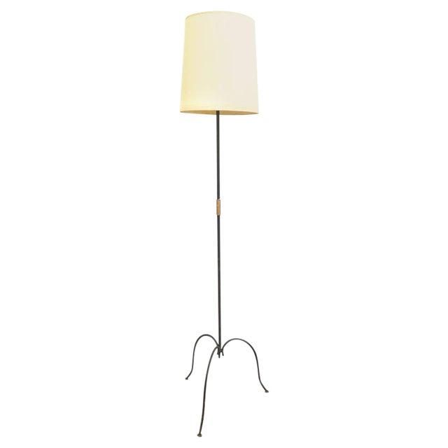 French Metal Tri-Leg Floor Lamp - Image 1 of 8