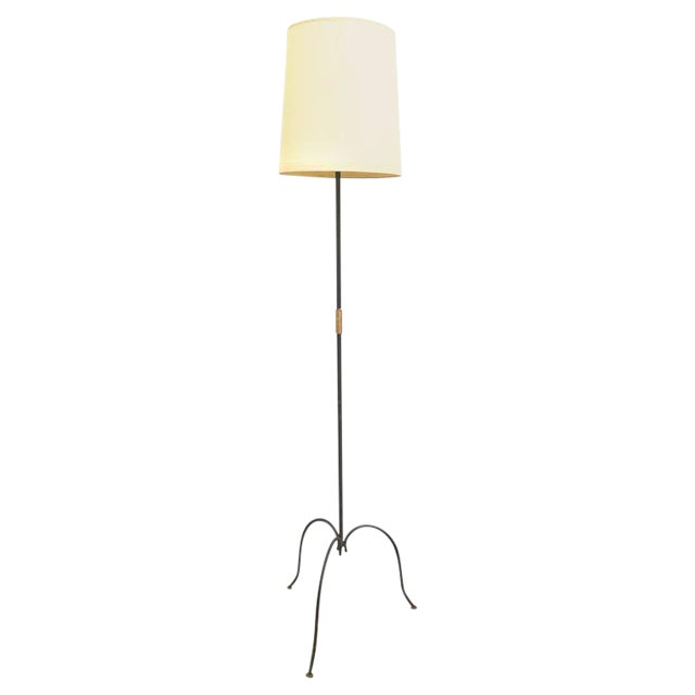 Image of French Metal Tri-Leg Floor Lamp