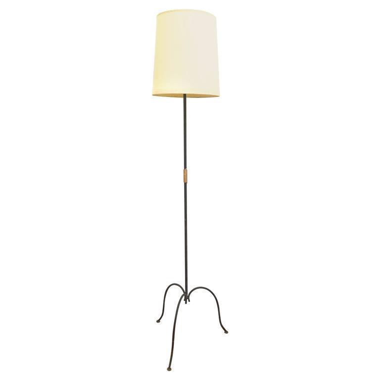 french metal trileg floor lamp