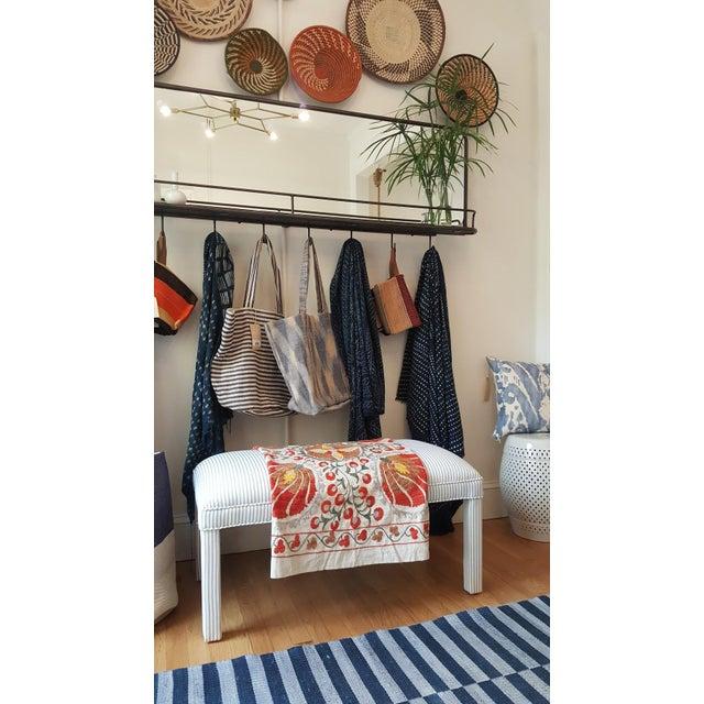 Parker Upholstered Bench in Ticking Stripe - Image 4 of 5
