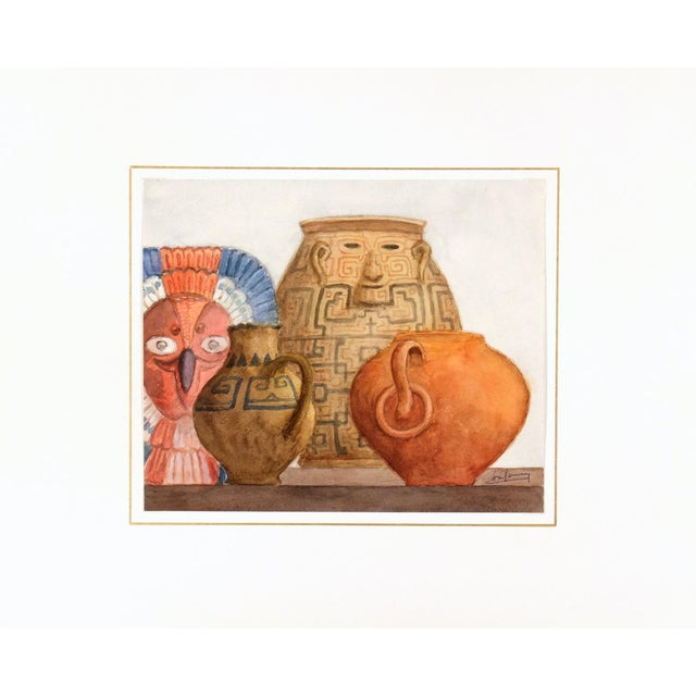 Original Watercolor Painting by Henri Gommers - Image 1 of 4