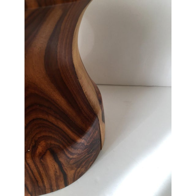 Image of VTG 80s Giant Wood Artisan Candleholder