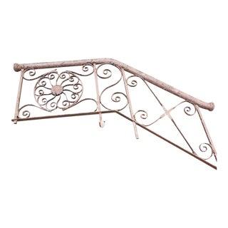 1800s Wrought Iron Stair Railing